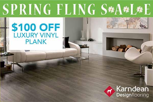 Karndean Luxury Vinyl Plank Sale | $100