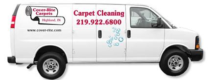 Cover-Rite Carpets - carpet cleaning van - 219-992-6800