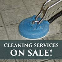 Cleaning services on sale during our New Year New Floor sale