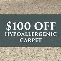 $100 off hypoallergenic carpet, Mohawk Air.O, during our New Year New Floor sale