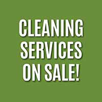 Summer Savings! Cleaning services on sale!