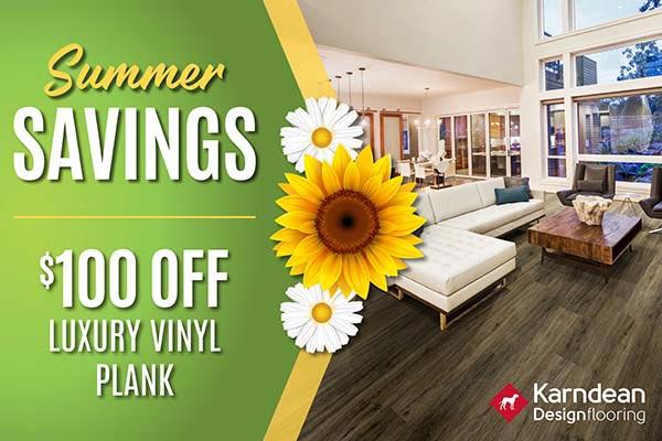 Summer Savings! $100 off luxury vinyl plank